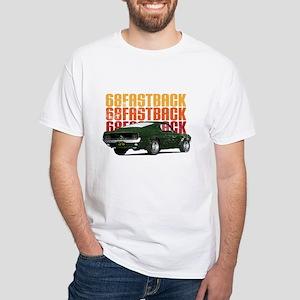 68 Fastback Distress White T-Shirt