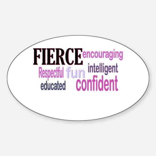 FIERCE Wordle Sticker (Oval)