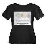 CDH Superhero Women's Plus Size Scoop Neck Dark T-