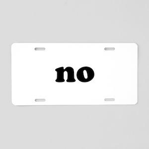 No Aluminum License Plate