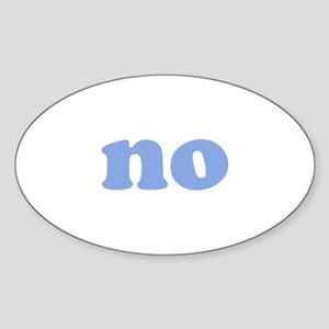No Sticker (Oval)