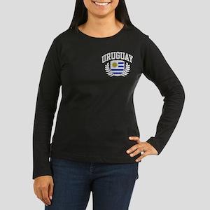 Uruguay Women's Long Sleeve Dark T-Shirt