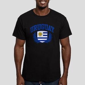 Uruguay Men's Fitted T-Shirt (dark)