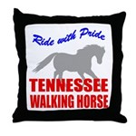 Pride Tennessee Walking Horse Throw Pillow