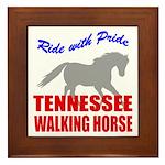 Pride Tennessee Walking Horse Framed Tile