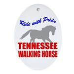 Pride Tennessee Walking Horse Oval Ornament
