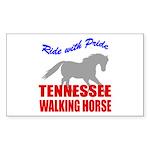 Pride Tennessee Walking Horse Sticker (Rectangular