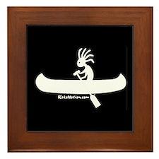 Kokopelli Canoeist Framed Tile
