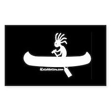 Kokopelli Canoeist Sticker (Rectangle)