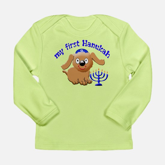 baby's first Hanukah Long Sleeve Infant T-Shirt