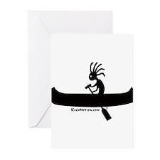 Kokopelli Canoeist Greeting Cards (Pk of 10)