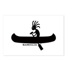 Kokopelli Canoeist Postcards (Package of 8)
