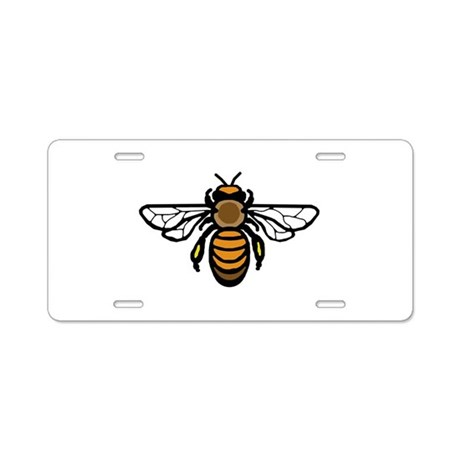 Bee Aluminum License Plate
