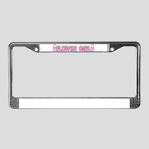Flower Girl License Plate Frame