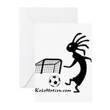 Kokopelli Soccer Player Greeting Cards (Pk of 10)
