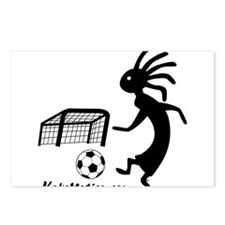 Kokopelli Soccer Player Postcards (Package of 8)