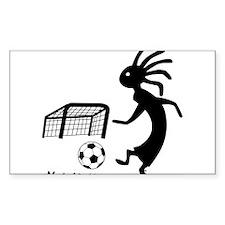 Kokopelli Soccer Player Sticker (Rectangle)