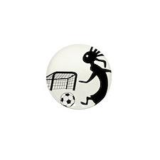 Kokopelli Soccer Player Mini Button (100 pack)