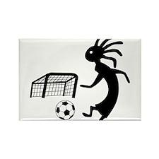 Kokopelli Soccer Player Rectangle Magnet (100 pack
