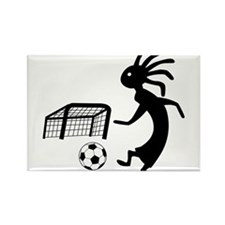 Kokopelli Soccer Player Rectangle Magnet (10 pack)