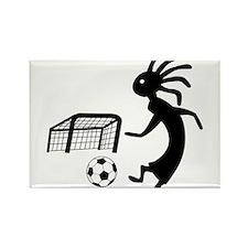 Kokopelli Soccer Player Rectangle Magnet