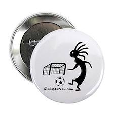 """Kokopelli Soccer Player 2.25"""" Button (10 pack"""