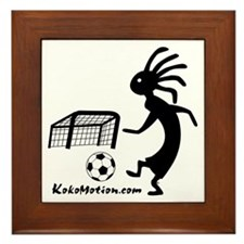 Kokopelli Soccer Player Framed Tile