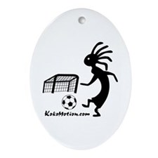 Kokopelli Soccer Player Ornament (Oval)