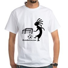Kokopelli Soccer Player White T-Shirt