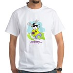 Hip Easter Bunny White T-Shirt
