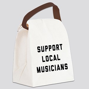 Support Local Musicians Canvas Lunch Bag