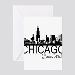 Someone in Chicago Loves Me S Greeting Card