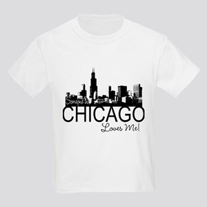 Someone in Chicago Loves Me S Kids Light T-Shirt