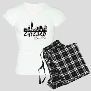 Someone in Chicago Loves Me S Women's Light Pajama