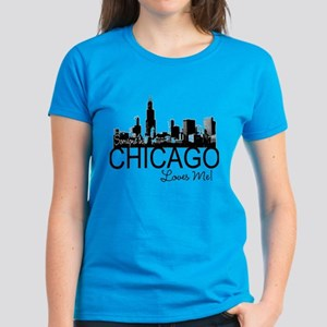 Someone in Chicago Loves Me S Women's Dark T-Shirt