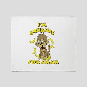 I'm Bananas For Nana Throw Blanket