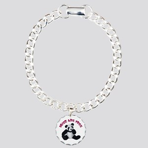 Panda Bear toy Charm Bracelet, One Charm