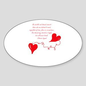 Red Thread Legend Sticker (Oval)