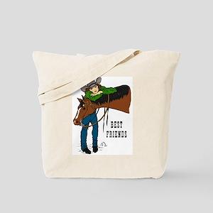 Western Horse Friends Tote Bag