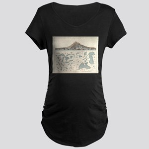 Vintage Lakes of The World Map ( Maternity T-Shirt