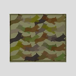 Corgi Camo - Throw Blanket