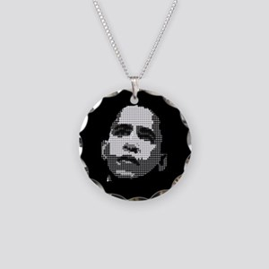 Obama Pop Art Necklace Circle Charm