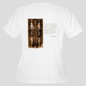 Shroud of Turin Women's Plus Size V-Neck T-Shirt