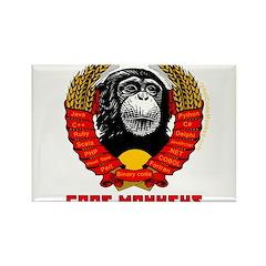 Code Monkeys of the World, Unite! Rectangle Magnet