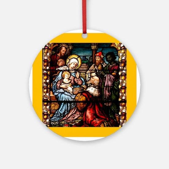 Adoration of the Magi Ornament (Round)