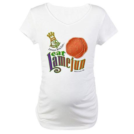 Eat Lamejun Maternity T-Shirt