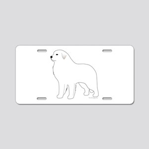 Great Pyrenees Outline Aluminum License Plate