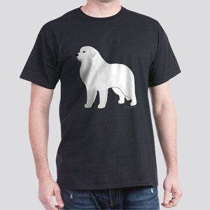 Great Pyrenees Outline Dark T-Shirt