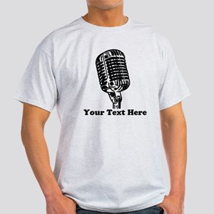 Microphone Personalized Light T-Shirt