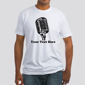 Microphone Personalized Fitted T-Shirt